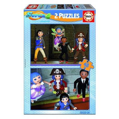 Puzzle Super 4 - 2x48 educa (17279)