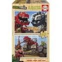 Puzzle madera Dinotrux - 2x25 educa (17271)