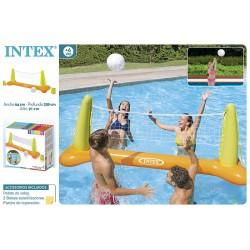 Juego voley piscina 239x64x91 cm intex (56508)