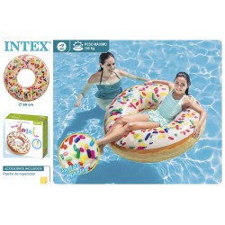 Rueda donut blanco 99 cm intex (56263)
