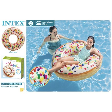 Rueda donut blanco 99 cm intex (56263)