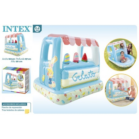 Casa de juegos heladería 127x102x99 intex (48672)