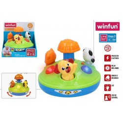 carrusel animales luces y sonido winfun (46313)