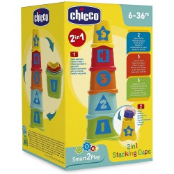 Cubos 2 en 1 apilables chicco (93730)