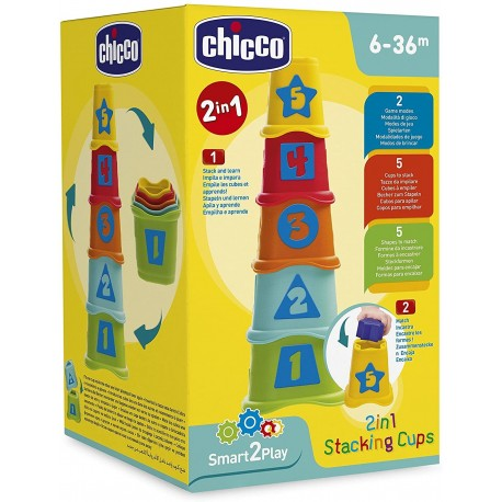 Cubos 2 en 1 apilables chicco (93730)