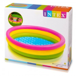 Piscina hinchable 3 aros - 114x25cm intex (57412)