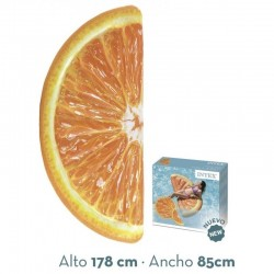 Colchoneta hinchable Naranja intex (58763)