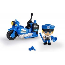 Pinypon Action. Moto de Policía famosa (15694)