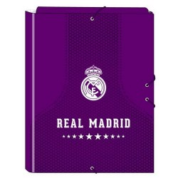 Carpeta folio 3 solapas Real Madrid (safta)
