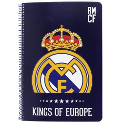 Libreta folio 80 hojas Kings Real Madrid (safta)