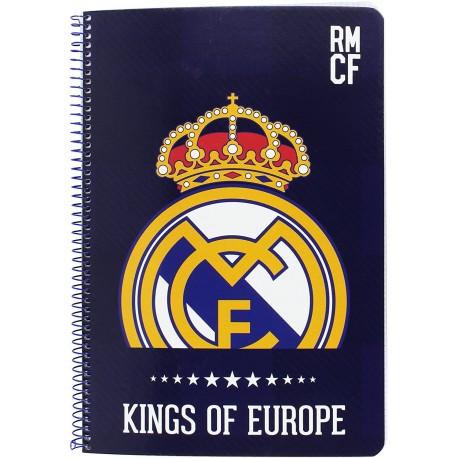 Libreta folio 80 hojas Kings Real Madrid (safta)