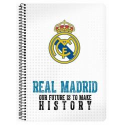 Libreta cuarto 80 hojas Real Madrid (safta)