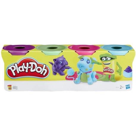 Play-Doh pack 4 botes surtido hasbro (B5517EU4)
