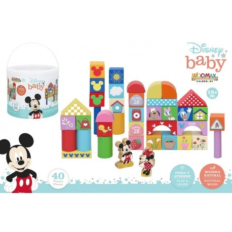 Bote 40 blocks madera Mickey colorbaby (48705)