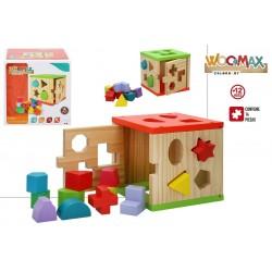 Cubo actividades madera colorbaby (42139)