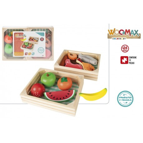 Cajas madera comidas colorbaby (46471)