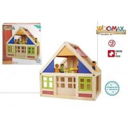 Casa muñecas madera colorbaby (46477)