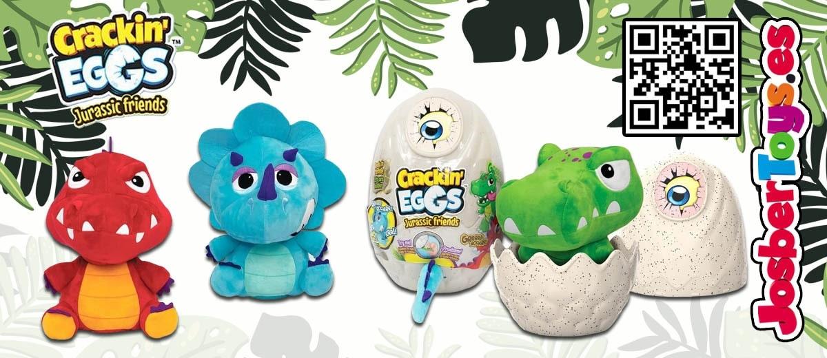 Peluche Dinosaurio Crackin Eggs de colorbaby en www.josbertoys.es